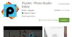 PicsArt als ultimatives Gratis Fotostudio für Kreative !