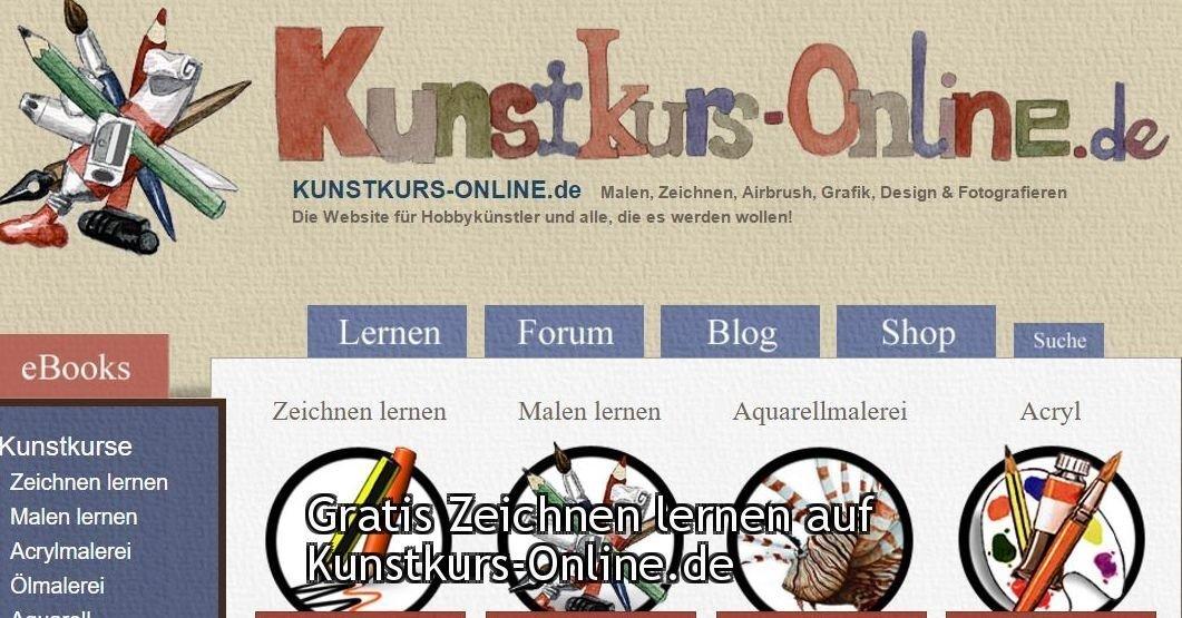 Gratis Malen und Zeichnen lernen auf Kunstkurs-Online.de | Nur.Gratis