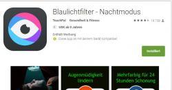 Gratis App Blaulichtfilter für ein entspanntes Einschlafen