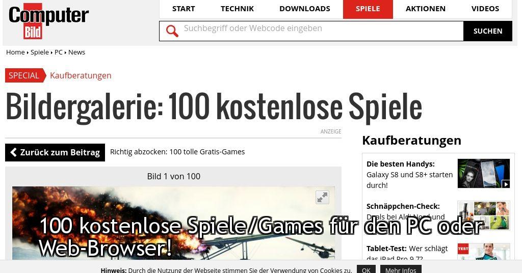 100 Kostenlose Spiele