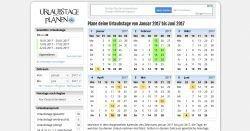 Gratis Online-Tool zur Planung der Urlaubstage für Arbeitnehmer