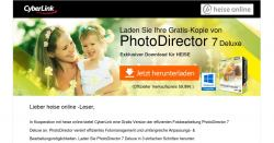 Fotoverwaltungs-Software 'PhotoDirector 7 Deluxe' als Gratis-Download