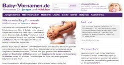 Baby-Vornamen.de - Über 60.000 Vornamen für Jungen und Mädchen aus aller Welt