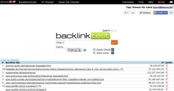 Backlink-Test: Prüfe welche Seiten zu deiner Webseiten verlinken