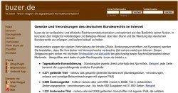 Buzer.de - Die neusten Gesetze und Verordnungen der BRD auf einen Blick