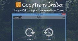 CopyTrans Shelbee - Gratis Backup-Tool für iOS-Geräte