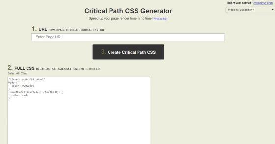 Critical Path CSS Generator: Optimiere die Ladezeit deiner Webseite