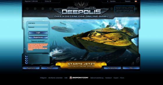 Deepolis: Das gratis U-Boot Unterwasser-Abenteuer im Webrowser
