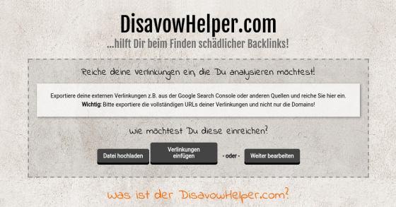 Disavow-Tool: Gratis exportierte Backlinks aufbereiten & analysieren