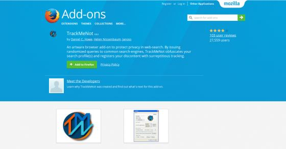Firefox-Add-on: Track Me Not - Verschleier deine Suchanfragen
