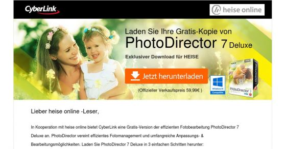Fotoverwaltungs-Software 'PhotoDirector 7 Deluxe' als Gratis-Download