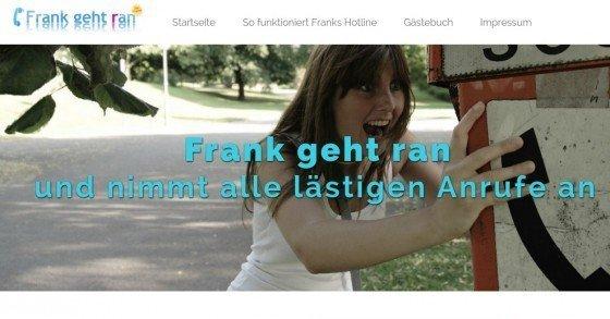 Frank geht ran - Lüstige Werbeanrufe gratis abwimmeln
