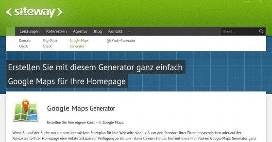 Google Maps Generator - Gratis Anfahrtsskizze für deine Homepage