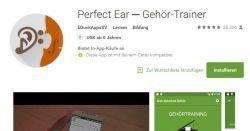 Gratis App: Perfect Ear - Verbessere dein musikalisches Gehör!