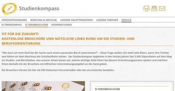 Gratis Broschüre rund um die Studien- und Berufsorientierung