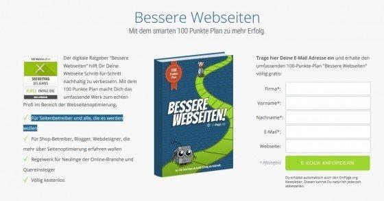 Gratis E-Book 'Bessere Webseiten' für eine bessere Suchmaschinenoptimierung