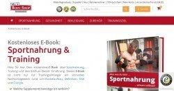 Gratis E-Book über Sportnahrung & Training anfordern