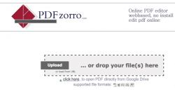 Gratis PDF-Dokumente online bearbeiten mit PDFzorro