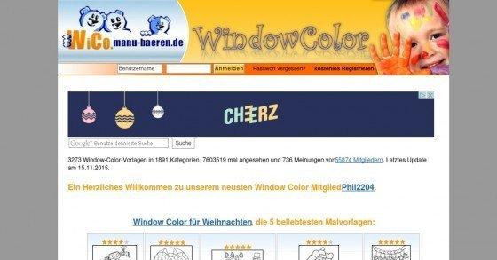 Gratis Window-Color-Vorlagen/Motive für schöne Fensterbilder