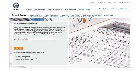 Kostenlose Fahrzeughandbücher für VW-Autos