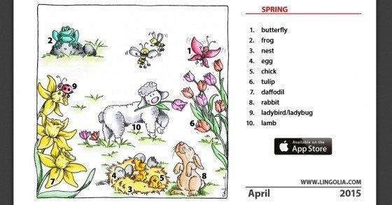 Kostenloser Vokabelkalender von Lingolia.com zum Gratis-Download verfügbar