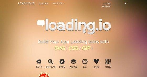 Loading.io - Individuelle animierte Ladebalken/-grafiken für AJAX-Webseiten