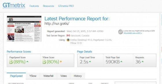 PageSpeed-Tool: GTmetrix - Teste & optimiere die Geschwindigkeit deiner Webseite