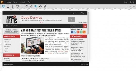 Responsive Design: Mit Screenfly Webseiten in verschiedenen Auflösungen testen