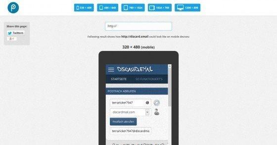 Responsive-Design-Tool: Webseiten für verschiedene Endgeräte testen