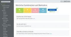 Sammlung von Eselsbrücken & Merksprüche zu vielen Themen!