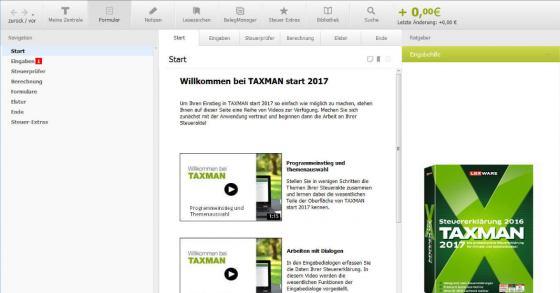 Taxman 2017 - Gratis Software für deine Steuererklärung für 2016