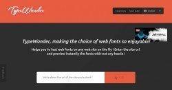 TypeWonder - Neue Schriftarten für deine Homepage in Echtzeit testen