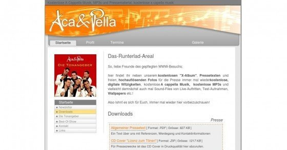 Weihnachtsalbum der Comedy-Gruppe Aca & Pella gratis als MP3-Download